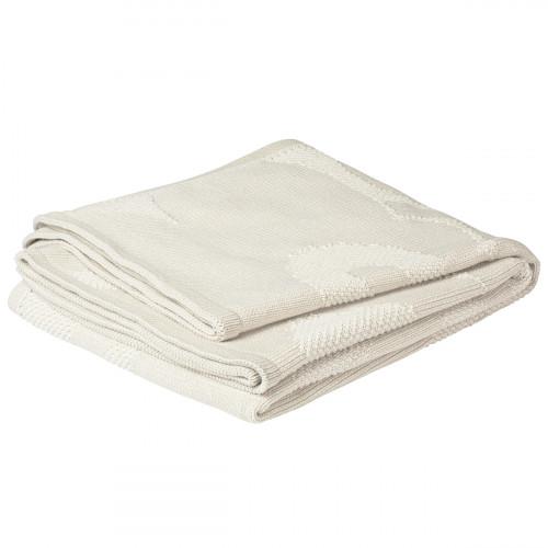 Marimekko Unikko Ecru Knit Blanket