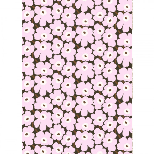 Marimekko Pieni Unikko Lilac / Brown Acrylic-coated Cotton Fabric