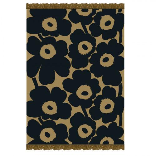 Marimekko Unikko Olive / Navy Blanket