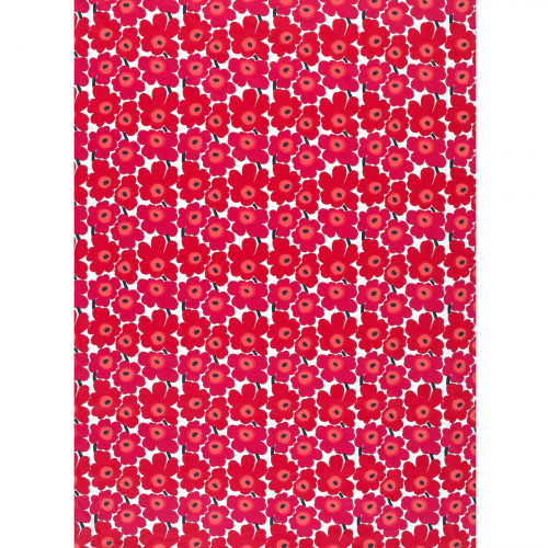 Marimekko Mini-Unikko White / Red Cotton Fabric