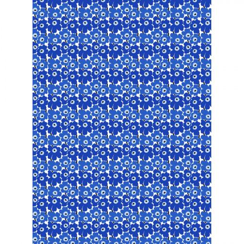 Marimekko Mini-Unikko White / Blue Cotton Fabric