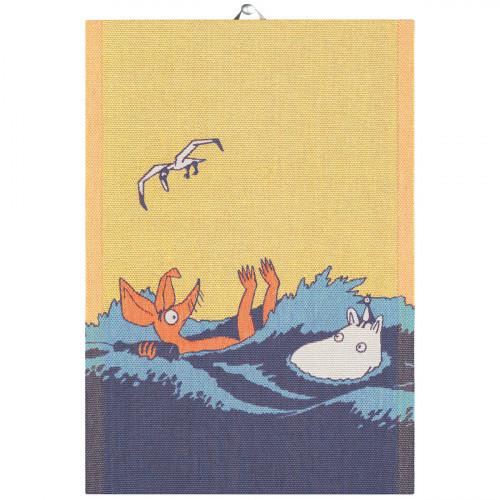 "Ekelund Moomin Waves ""Save the Baltic Sea"" Tea Towel"