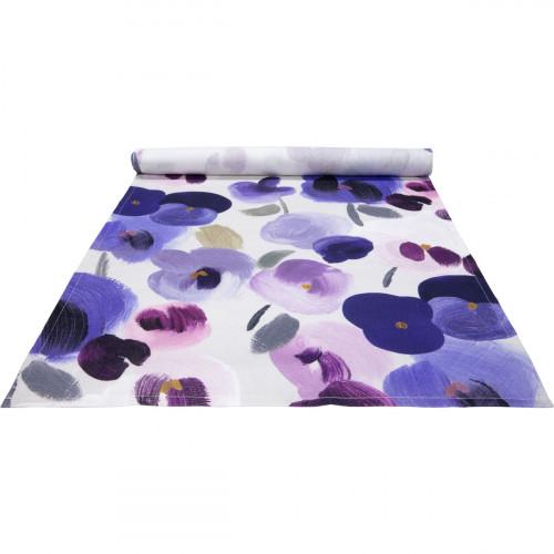 Pentik Orvokki Blue / Multi Acrylic-Coated Table Runner