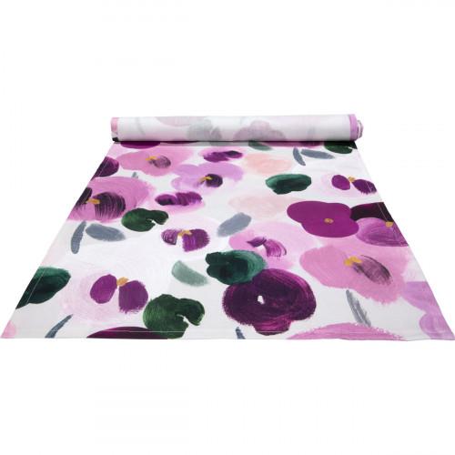 Pentik Orvokki Pink / Multi Acrylic-Coated Table Runner
