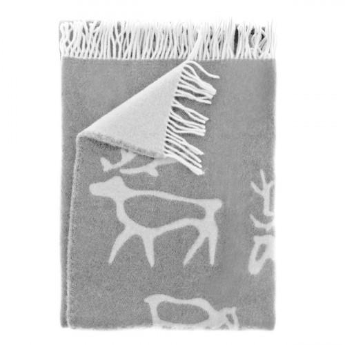 Pentik Saaga Grey Wool Blanket