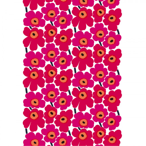 Marimekko Pieni Unikko Red Cotton Fabric