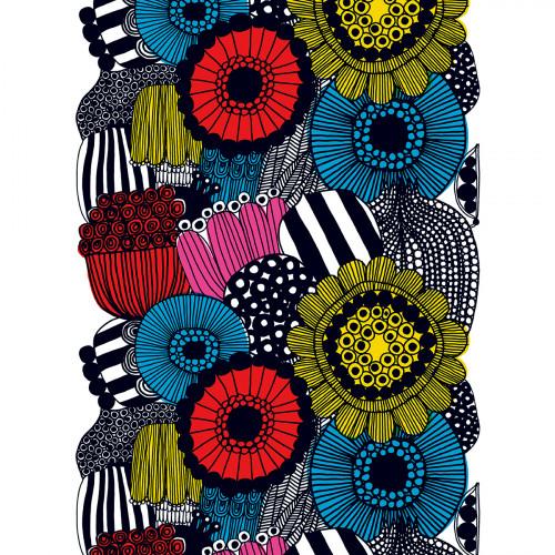 Marimekko Siirtolapuutarha Multicolor Cotton Fabric Repeat