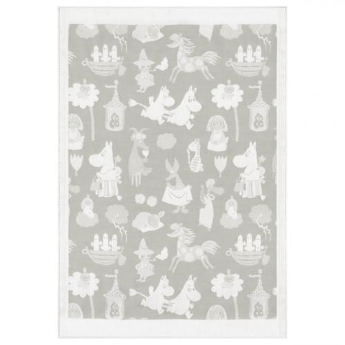 Ekelund Moomin Moominvalley Grey Baby Blanket