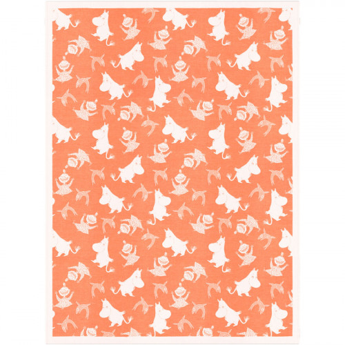 Ekelund Moomin Happy Orange Throw Blanket