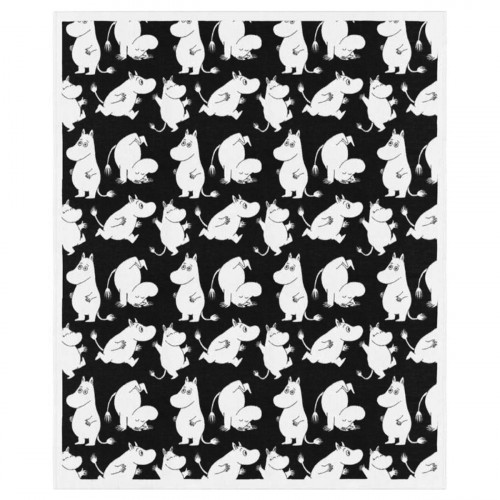Ekelund Moomin Joy Charcoal Throw Blanket