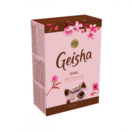 Fazer Geisha Dark Chocolate with Hazelnut Box - 5-1/4 oz