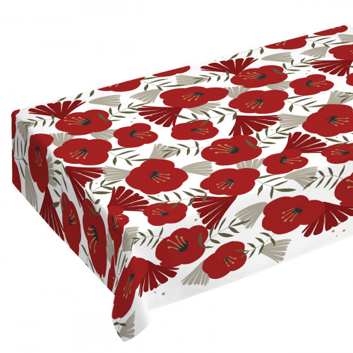 Finlayson Anni White / Red / Gold Tablecloth