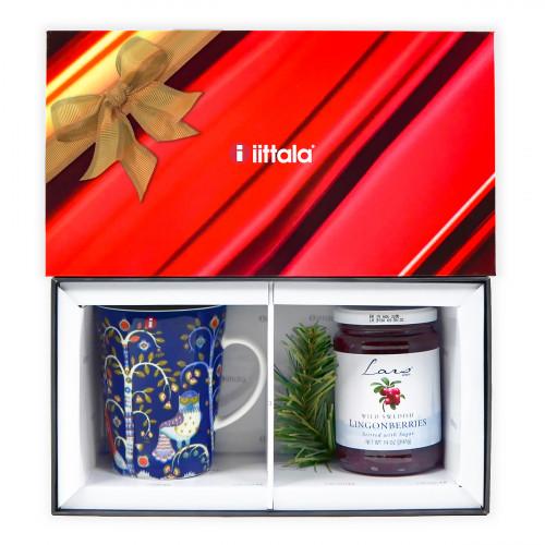 iittala Taika Blue Mug + Lars Own Lingonberries Gift Set