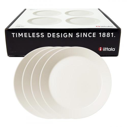 iittala Teema White Salad Plate Boxed Set of 4