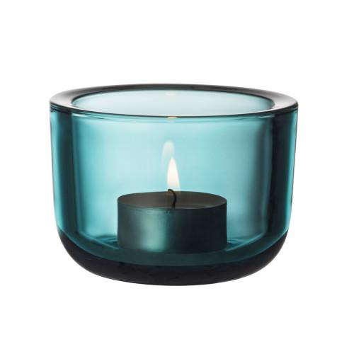 iittala Valkea Sea Blue Candle Holder