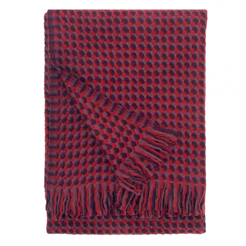 Lapuan Kankurit Alva Bordeaux Wool Blanket