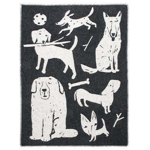 Lapuan Kankurit Koirapuisto Black Wool Throw