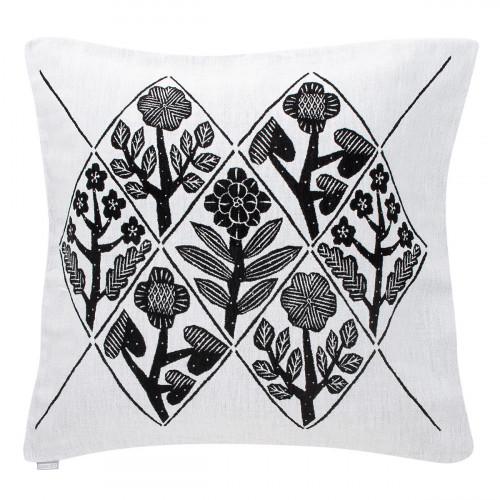 Lapuan Kankurit Kukat Black Throw Pillow