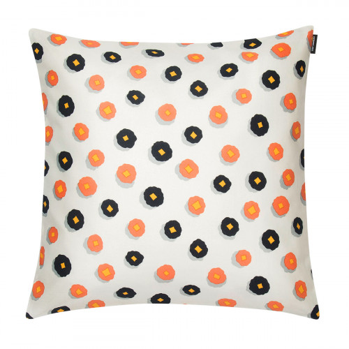 Marimekko Huiskilo Ecru / Peach / Navy Small Throw Pillow