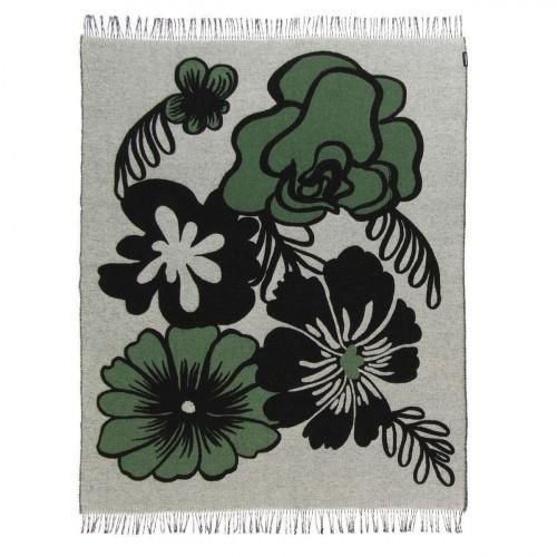 Marimekko Elakoon Elama White / Black / Green Blanket