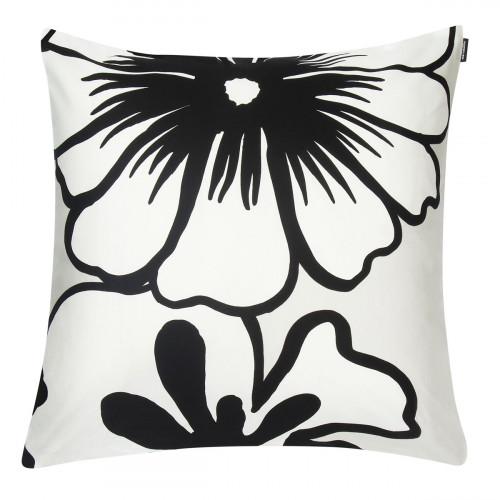 Marimekko Elakoon Elama White / Black / Grey Large Throw Pillow