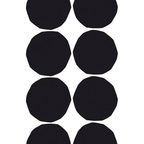 Marimekko Isot Kivet White / Black Cotton Fabric Repeat