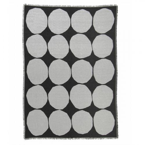 Marimekko Kivet Black Blanket