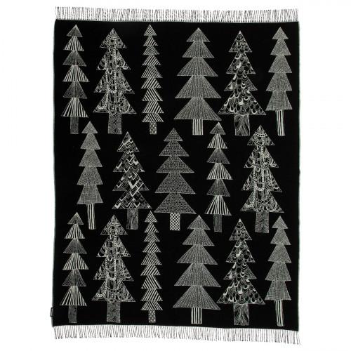Marimekko Kuusikossa Black / White Blanket