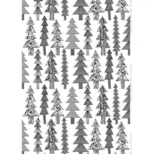 Marimekko Kuusikossa White / Black Fabric