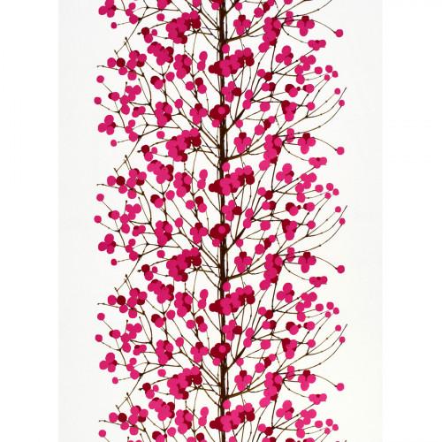 Marimekko Lumimarja White / Pink Fabric