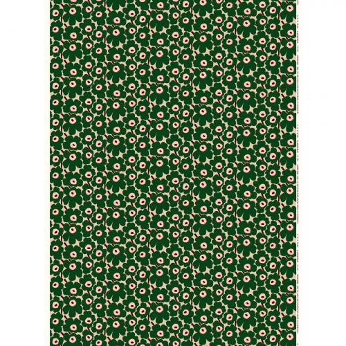 Marimekko Mini Unikko Beige / Green Fabric