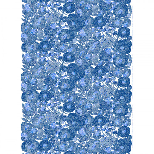 Marimekko Mynsteri Blue Acrylic-coated Cotton Fabric