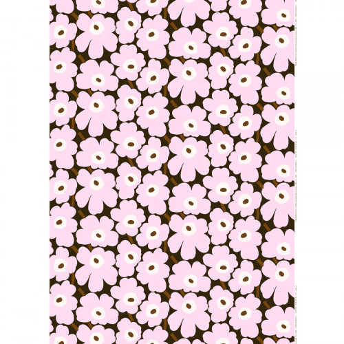 Marimekko Pieni Unikko Lilac / Brown Fabric