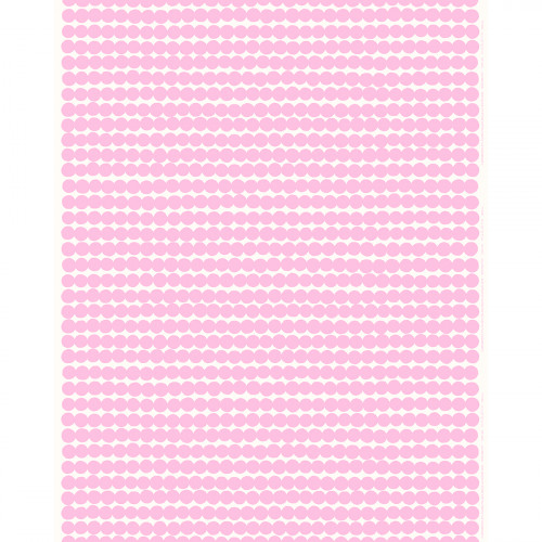 Marimekko Rasymatto White / Pink Acrylic-coated Cotton Fabric