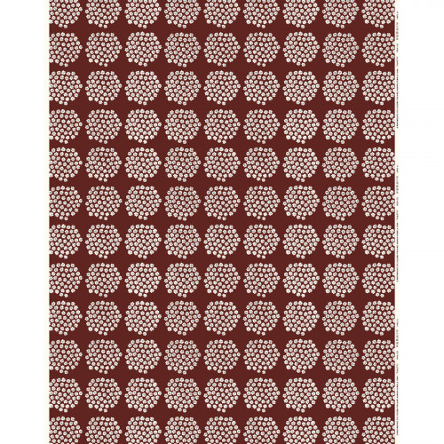 Marimekko Puketti Rust / White / Navy Acrylic-coated Cotton Fabric