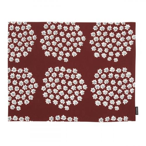 Marimekko Puketti Rust / White / Navy Acrylic-coated Cotton Placemat