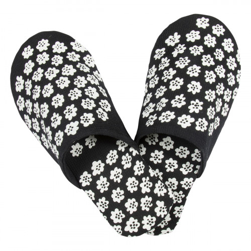Marimekko Puketti Black / White Slippers