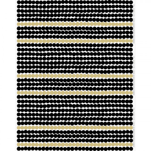 Marimekko Rasymatto White / Black / Gold Fabric