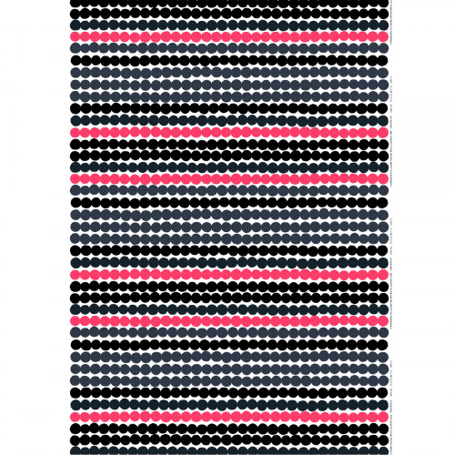 Marimekko Räsymatto White / Grey / Pink Cotton Fabric