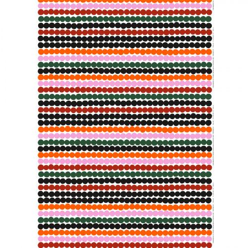 Marimekko Räsymatto White / Orange / Green Cotton Fabric