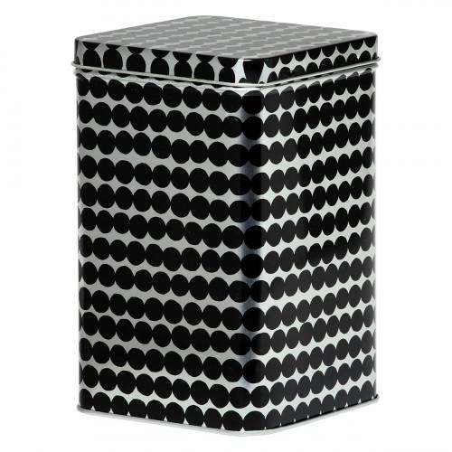 Marimekko Rasymatto Silver / Black Tin Box