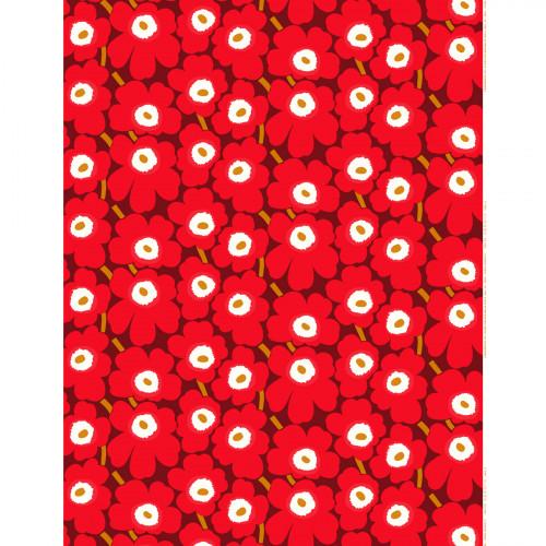 Marimekko Pieni Unikko Red / Maroon Fabric