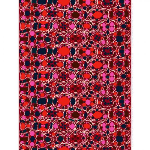 Marimekko Talvipalatsi Maroon / Multi Fabric