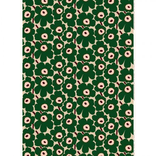 Marimekko Pieni Unikko Beige / Green Acrylic-coated Fabric