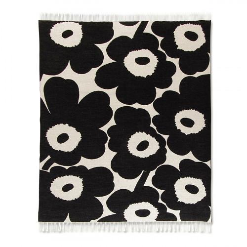 Marimekko Unikko Cream / Black Blanket
