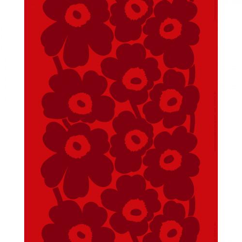 Marimekko Unikko Red / Maroon Fabric