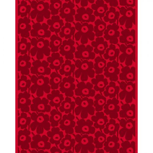 Marimekko Pieni Unikko Red / Maroon Acrylic-coated Cotton Fabric
