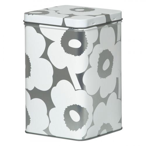 Marimekko Unikko Silver / White Tin Box