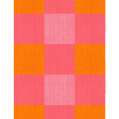 Marimekko Verkko Red / Yellow Fabric Repeat