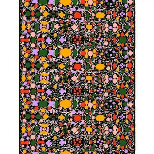 Marimekko Talvipalatsi Black / Multi Fabric